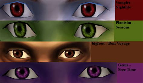 Mod The Sims - All You Need Part 2: supernatural default eyes