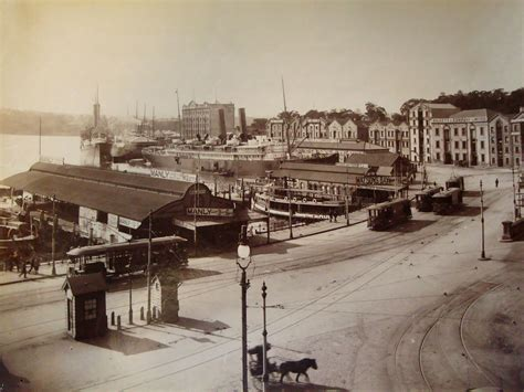 Circular Quay, Sydney, Australia early 1900s | This is a
