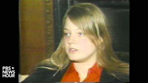 Actress Jodi Foster talks about letters sent to her by