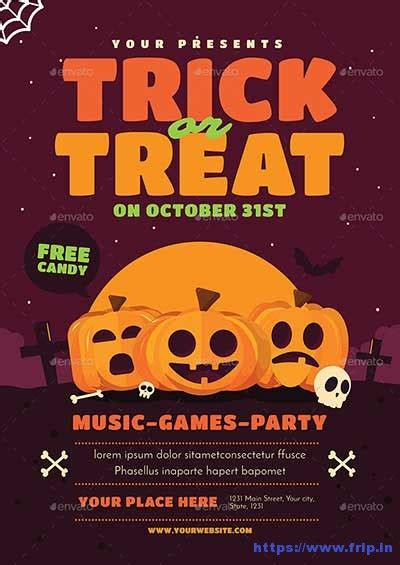 100 Best Halloween Party Flyers Print Templates 2018 | Frip