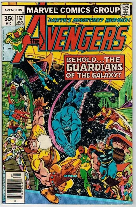 1978 AVENGERS #167 GUARDIANS OF THE GALAXY GOTG GEORGE