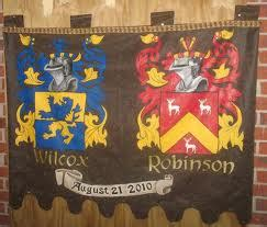 coat of arms and wedding date for medieval wedding bride