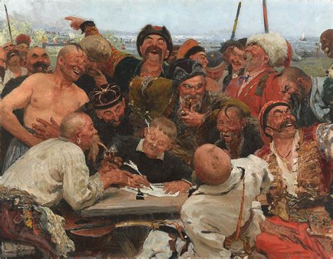 File:Reply of the Zaporozhian Cossacks (sketch, 1880-90
