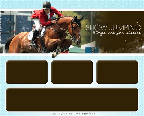 Free Howrse Layout [ShowJumping] by Gracefuleigh on DeviantArt