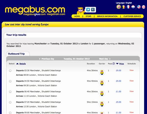 Megabus - Travel by bus for just £1